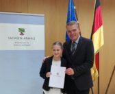 Mandy Bauer (TSV Leuna) für ihre sportlichen Leistungen ausgezeichnet