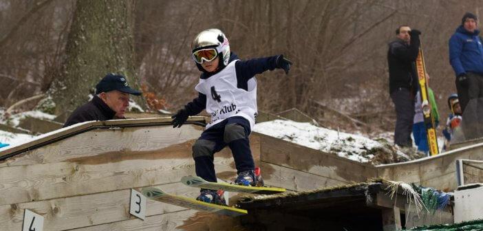 Junge Wintersportler auf den Spuren ihrer Idole