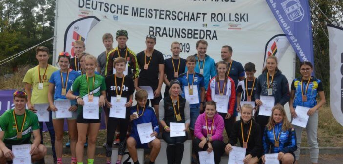 Geiseltal Rollski Race ist Deutsche Meisterschaft Flachstrecke 2019